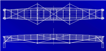 Bridge plan and elevation