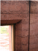 Cement stabilised rammed earth