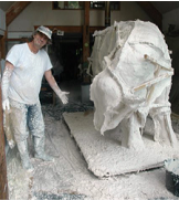 The plaster moulding process